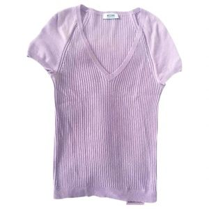Moschino lavender pink wool blend sweater